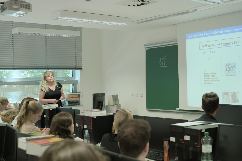 Při vyuce. Foto: Tereza Jirásková