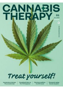 The cover page of Cannabis Therapy Magazine 01