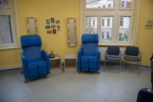 Vaporizační místnost v brněnské nemocnici u sv. Anny.