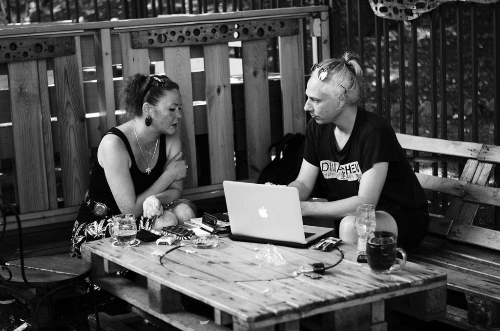 Rozhovor v plném proudu. Foto: Tereza Jirásková