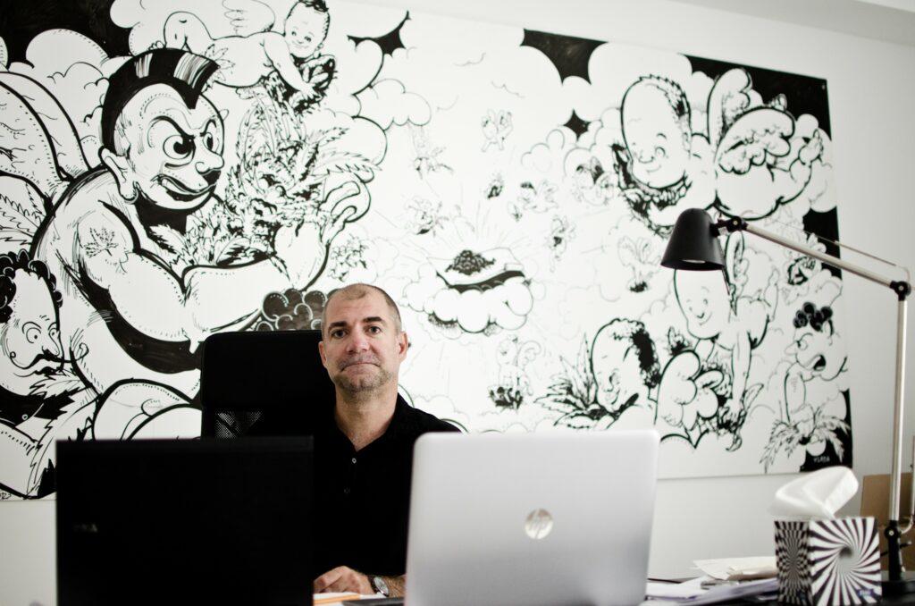 Lukáš Běhal ve své pracovně. Foto: Tereza Jirásková