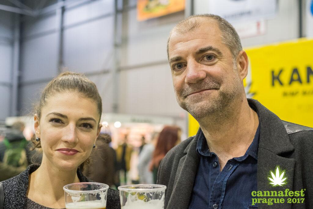 S partnerkou Nikolou na Cannafestu 2017. Foto: Cannafest