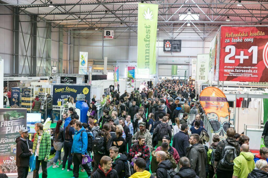 Cannafest na výstavišti PVA Expo v Letňanech. Foto: Cannafest