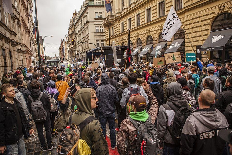 Prague's demonstration for cannabis legalization. Author: Marek Rebroš