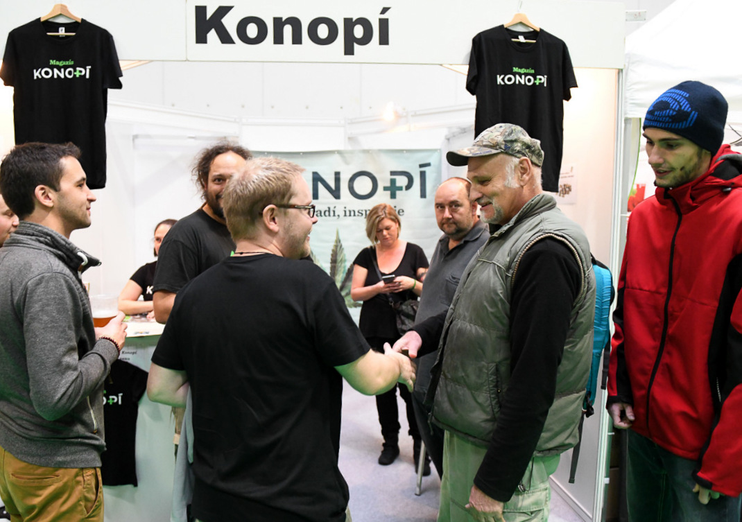 Na Cannafestu 2019 s šéfredaktorem magazínu Konopí.