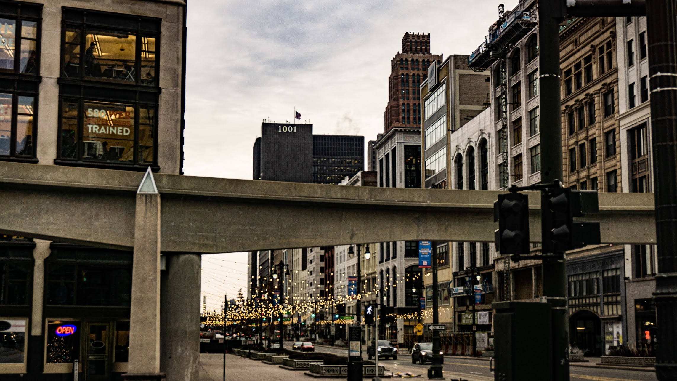Amsterdam St & Woodward Ave, Detroit. Photo Karhlyle Fletcher