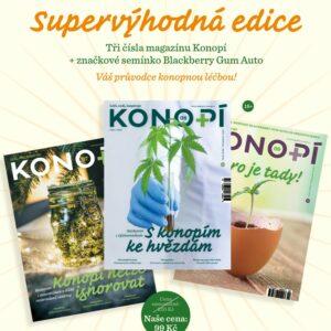 Tři vydání Konopí a značkové semínko za 99 Kč včetně poštovného