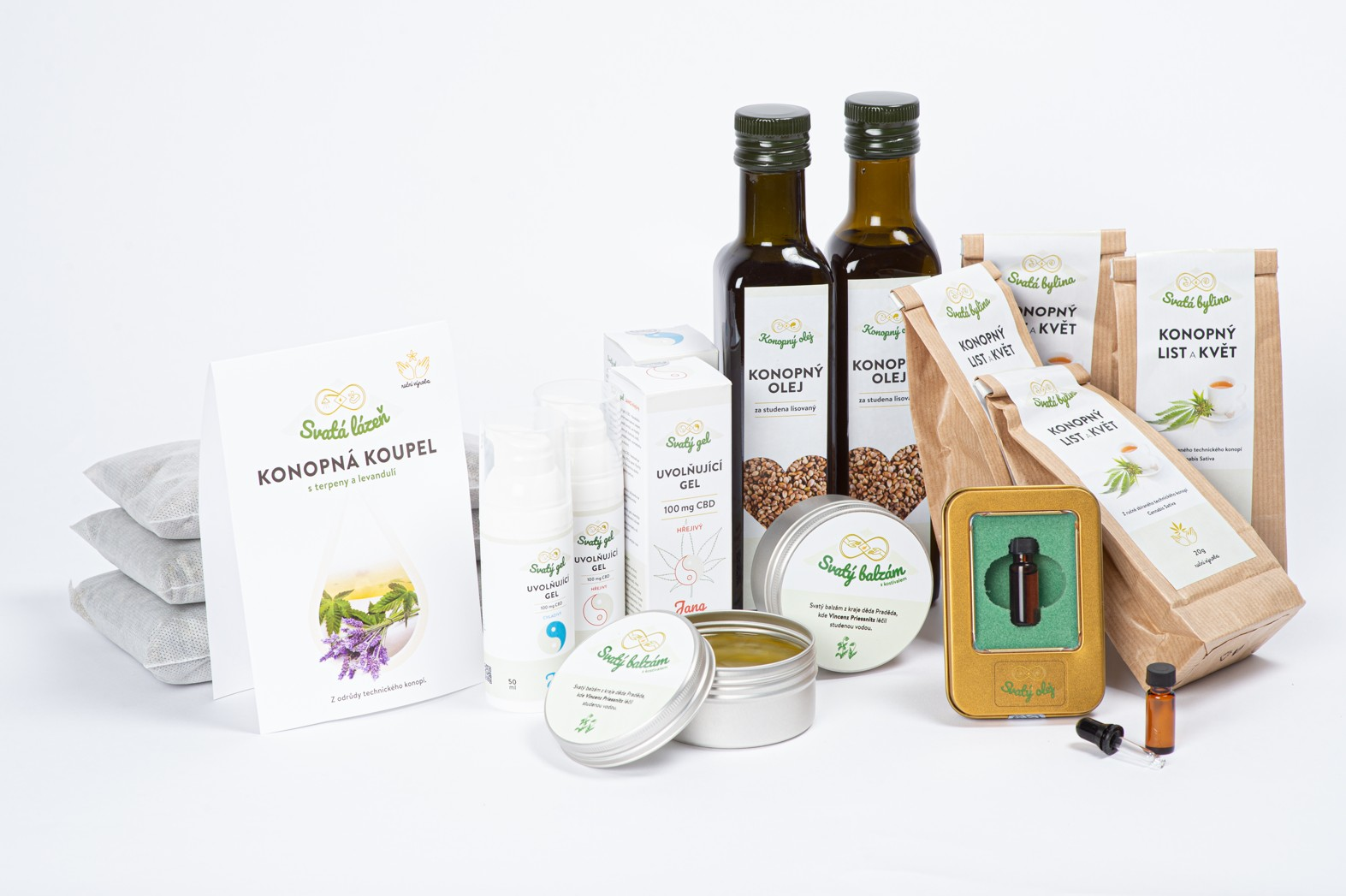 Various CBD and hemp products from family-run cannabis company in the Czech Republic.
