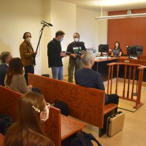 V miniaturní soudní síni. Foto: František Kuba